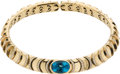 Estate Jewelry:Necklaces, Blue Topaz, Diamond, Gold Necklace, Marina B.. ...