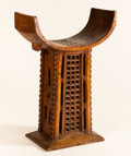African, AN ABOMEY ROYAL THRONE. Dahomey, Benin. 32-3/4 inches (83.2 cm) high. ...