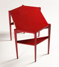 Furniture , MAURICE DUFRÊNE. An Early Pink/Red Lacquered Gueridon, circa 1925. 27 x 36 x 24 inches (68.6 x 91.4 x 61.0 cm). ...