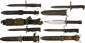 Military & Patriotic:WWII, Lot of Five U.S. WWII to Present Bayonets.... (Total: 5 Items)