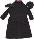 Military & Patriotic:WWI, Rare American Red Cross Women's Canteen Worker Overcoat andHats.... (Total: 3 Items)