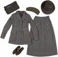 Military & Patriotic:WWII, Identified WWI American Red Cross Woman's Uniform and Scrapbook of Her Time in France.... (Total: 6 Items)