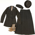 Military & Patriotic:WWI, WWI American Red Cross Complete Woman's Foreign Service Uniform,Hats, and Shoes.... (Total: 5 Items)