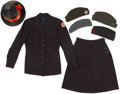 Military & Patriotic:WWI, American Red Cross Group of Women's Hats and Uniform.... (Total: 7Items)