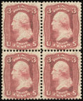 Stamps, 3c Brown Rose, First Design (56),...