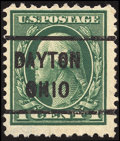 Stamps, 1c Green, Perf. 10 x 12 (423D),...