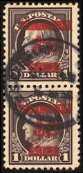 Stamps, $2 on $1 Violet Brown, Double Overprint (K16a),...