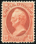 Stamps, 24c Interior on soft porous paper (O103),...
