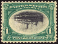 Stamps, 1c Green & Black, Center Inverted (294a),...