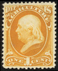 Stamps, 1c Agriculture on soft porous paper (O94),...