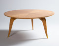 Furniture : French, JEAN PASCAUD. A Masur Birch and Bronze Low Table, circa 1930. 18 x39-1/2 inches (45.7 x 100.3 cm). ...