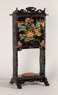 Asian:Japanese, A JAPANESE NAGASAKI LACQUER SECRETAIRE. Edo Period, 19th Century.56 x 26 x 11 inches (142.2 x 66.0 x 27.9 cm). ...