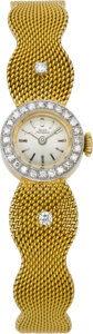 Timepieces:Wristwatch, Girard Perregaux Lady's Gold & Diamond Wristwatch. ...