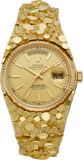 Timepieces:Wristwatch, Rolex Ref. 18000 President For Tiffany & Co. With Massive GoldNugget Band, circa 1984. ...