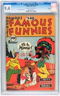 Golden Age (1938-1955):Miscellaneous, Famous Funnies #148 File Copy (Eastern Color, 1946) CGC NM 9.4 Off-white to white pages....