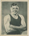 Baseball Collectibles:Photos, Circa 1930 Babe Ruth Underwear Premium Photograph....