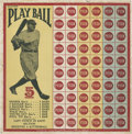 Baseball Collectibles:Others, Circa 1927 Babe Ruth Punch Card....