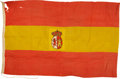 Military & Patriotic:Spanish American War, Royal Spanish Navy Coastal and Fortifications Flag Captured by American Forces During the Spanish-American War....