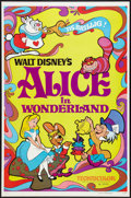 """Movie Posters:Animated, Alice in Wonderland (Buena Vista, R-1974). One Sheet (27"""" X 41"""")Flat Folded. Animated.. ..."""