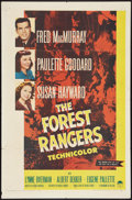 """Movie Posters:Action, The Forest Rangers (Paramount, R-1958). One Sheet (27"""" X 41"""").Action.. ..."""