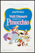 "Movie Posters:Animated, Pinocchio (Buena Vista, R-1978). One Sheet (27"" X 41"") Flat Folded.Animated.. ..."