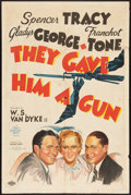 "Movie Posters:Crime, They Gave Him a Gun (MGM, 1937). One Sheet (27"" X 41"") Style C.Crime.. ..."