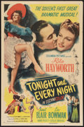 """Movie Posters:Musical, Tonight and Every Night (Columbia, 1945). One Sheet (27"""" X 41"""") Style A. Musical.. ..."""