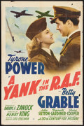 "Movie Posters:War, A Yank in the R.A.F. (20th Century Fox, 1941). One Sheet (27"" X41"") Style B. War.. ..."