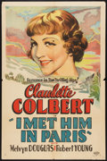 "Movie Posters:Comedy, I Met Him in Paris (Paramount, 1937). Other Company One Sheet (27""X 41""). Comedy.. ..."