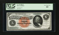 Large Size:Silver Certificates, Fr. 261 $5 1886 Silver Certificate PCGS Very Choice New 64....