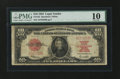Large Size:Legal Tender Notes, Fr. 123 $10 1923 Legal Tender PMG Very Good 10....
