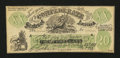 Confederate Notes:1861 Issues, XXI $20 Female Riding Deer Bogus Note.. ...