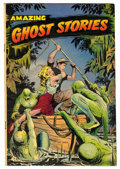 Golden Age (1938-1955):Horror, Amazing Ghost Stories #14 (St. John, 1954) Condition: VG/FN....