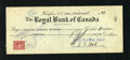 Miscellaneous:Other, Halifax, NS- Royal Bank of Canada $19.30 Check June 30, 1944. ...