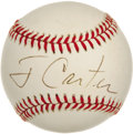 Autographs:Baseballs, Former President Jimmy Carter Single Signed Baseball. Georgiaresident and former President of the United States, Mr. Carte...