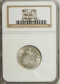 Seated Quarters, 1877 25C MS65 NGC....
