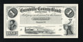 Canadian Currency: , Prescott, CW- Grenville County Bank $1 18__ Souvenir Card Cut-out....