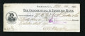 Miscellaneous:Other, Raleigh, NC- Commercial & Farmers Bank Check $43.31 Nov. 14 ,1896. ...