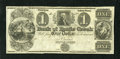 Obsoletes By State:Michigan, Battle Creek, MI- Bank of Battle Creek $1 18__. This scarce remainder was cut diagonally in two and then repaired. Choice ...