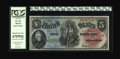 Large Size:Legal Tender Notes, Fr. 64 $5 1869 Legal Tender PCGS Superb Gem New 67PPQ....