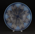 """Art Glass:Lalique, R. LALIQUE. """"Oeillets"""" An Opalescent and Clear Glass Coupe,Marcilhac no. 11-001, designed 1932. Marks: stenciled R.LALIQ..."""