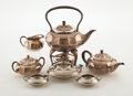 Silver Holloware, American:Tea Sets, TIFFANY & CO. A Four-Piece Silver Plated Tea and Coffee Service. Marks: each stamped TIFFANY & CO MAKERSSILVER-SOLDERED-... (Total: 4 Items)