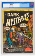 Golden Age (1938-1955):Horror, Dark Mysteries #20 (Master Publications, 1954) CGC FN/VF 7.0 Creamto off-white pages....