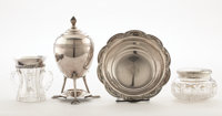 PROPERTY FROM A FLORIDA COLLECTION  TIFFANY & CO Four Silver and Cut Glass Items, early 20th century Mark