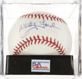 Autographs:Baseballs, Whitey Ford Single Signed Baseball PSA Mint 9. ...