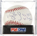 Autographs:Baseballs, Darryl Strawberry Single Signed Baseball PSA Mint 9. ...