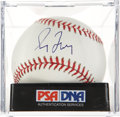Autographs:Baseballs, Greg Maddux Single Signed Baseball, PSA Mint+ 9.5. ...