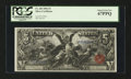 Large Size:Silver Certificates, Fr. 269 $5 1896 Silver Certificate PCGS Superb Gem New 67PPQ....