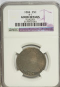 Early Quarters, 1804 25C --Plugged--NGC. Good Details....