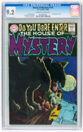 Bronze Age (1970-1979):Horror, House of Mystery #175 (DC, 1968) CGC NM- 9.2 Off-white to whitepages....